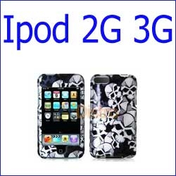 كفر iPod Touch 2G 3G جماجم أسود