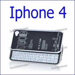 لوحة المفاتيح بلوتوث أبيض ايفون 4