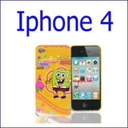 كفر سبونج بوب برتقالي iphone 4