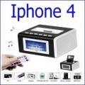 مضخم للصوت وساعة وراديو Iphone 4